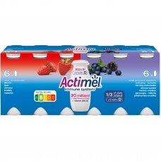 ACTIMEL jogurto gėrimas įvairių vaisių skonio, 12x100g