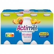ACTIMEL jogurto gėrimas vaisių skonio, 8x100g