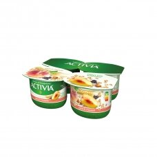 ACTIVIA jogurtas su persikais ir dribs., 2,6%, 480g