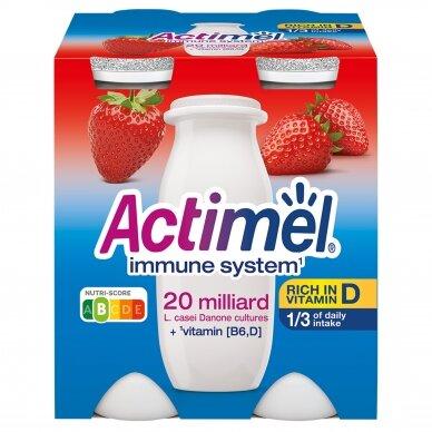 ACTIMEL jogurto gėrimas braškių skonio, 4*100g