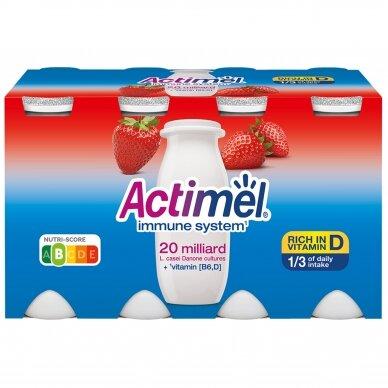 ACTIMEL jogurto gėrimas braškių skonio, 8*100g