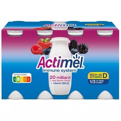 ACTIMEL jogurto gėrimas miško uogų skonio, 8*100g