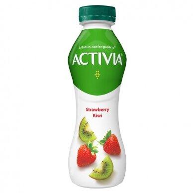 ACTIVIA geriamasis jogurtas su braškėmis ir kiviais, 300g