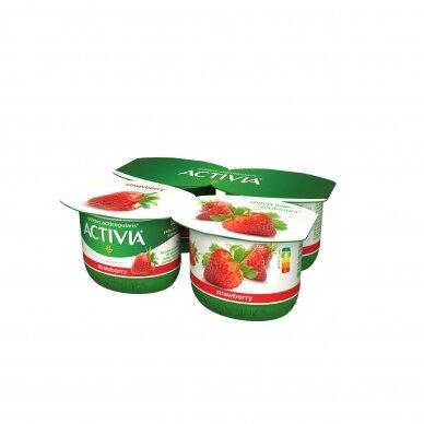 ACTIVIA jogurtas su braškėmis, 2,6%, 480g