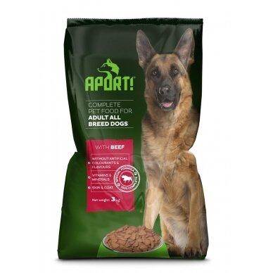 APORT sausas šunų ėdalas su jautiena 3kg