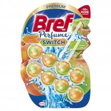 "BREF WC PERFUME SWITCH valiklis - gaiviklis ""Peach-Red Apple"", 2x50g"