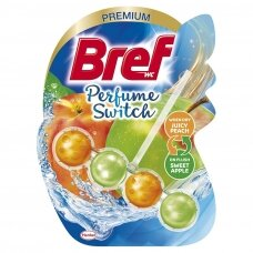 "BREF WC PERFUME SWITCH valiklis - gaiviklis ""Peach-Red Apple"", 50g"