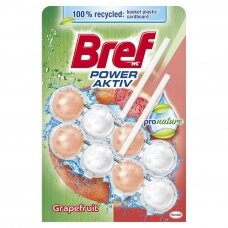 "BREF WC POWER AKTIV valiklis - gaiviklis ""Pronature Grapefruit"", 2x50g"