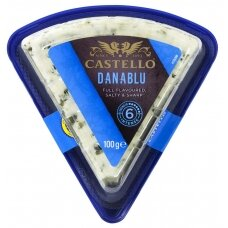 CASTELLO DANISH BLUE pelėsinis sūris, 50% RSM, 100g