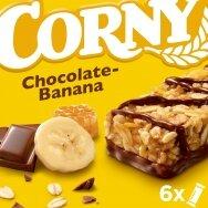 CORNY batonėliai pieniško šokolado-bananų skonio, 6*25g