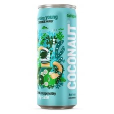 COCONAUT gazuotas jaunų kokosų vanduo, skardinė, 320ml