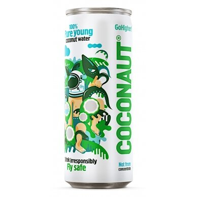 COCONAUT natūralus jaunų kokosų vanduo, 320ml