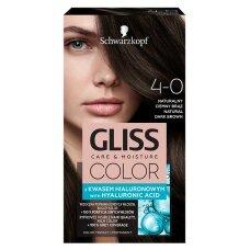 GLISS COLOR 4-0 plaukų dažai Natūralus tamsiai rudas