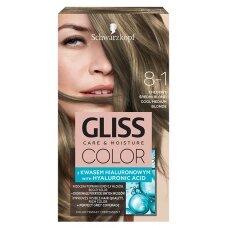 GLISS COLOR 8-1 plaukų dažai Šaltas šviesus