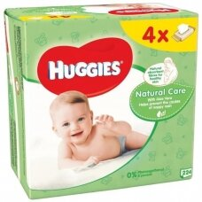"HUGGIES drėgnos servetėlės ""Natural Care"", 4*56vnt."