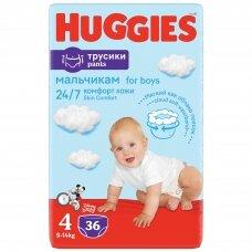 HUGGIES PANTS sauskelnės Boys 4(9-14kg) Jumbo, 36vnt