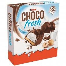 KINDER CHOCO FRESH batonėlis su pieno ir lazdyno riešutų įdaru,41g