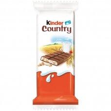 KINDER COUNTRY šokoladas su javainiais, 23,5g