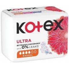 """KOTEX higieniniai paketai """"Normal"""", 8 vnt."""