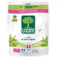 L'ARBRE VERT skysto skalbiklio su augaliniu muilu papildymas, 33 skalbimams, 1.5l