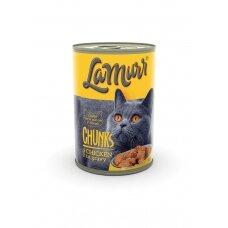 LA MURR kačių ėdalas skardinėje su vištiena 0.4kg