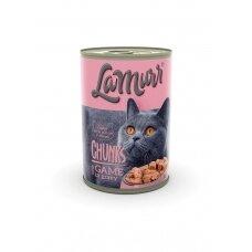LA MURR kačių ėdalas skardinėje su žvėriena, 0.4kg