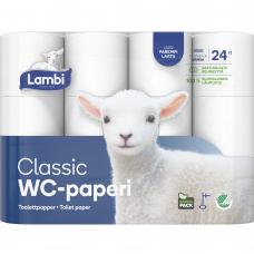 LAMBI tualetinis popierius 3 sluoksnių, 24 vnt.