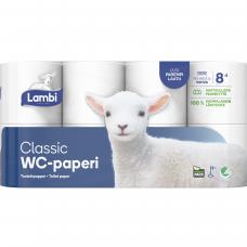 LAMBI tualetinis popierius 3 sluoksnių, 8 vnt.