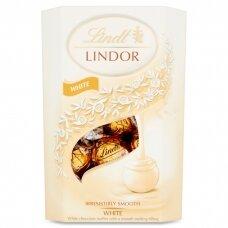 LINDT LINDOR baltojo šokolado rutuliukai, 200g