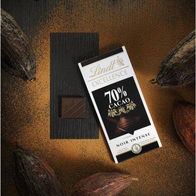 LINDT EXCELLENCE juodasis šokoladas (70%), 100g 4