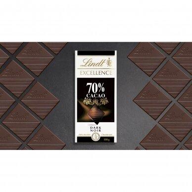 LINDT EXCELLENCE juodasis šokoladas (70%), 100g 5