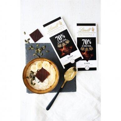 LINDT EXCELLENCE juodasis šokoladas (70%), 100g 2