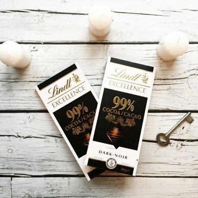 LINDT EXCELLENCE juodasis šokoladas (99%), 50g 2