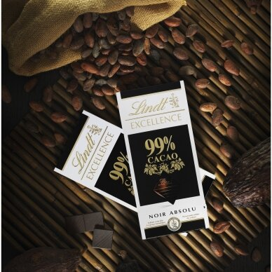 LINDT EXCELLENCE juodasis šokoladas (99%), 50g 3
