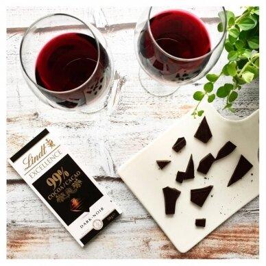 LINDT EXCELLENCE juodasis šokoladas (99%), 50g 4
