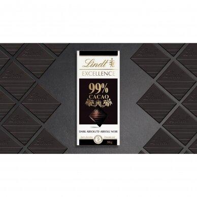 LINDT EXCELLENCE juodasis šokoladas (99%), 50g 5