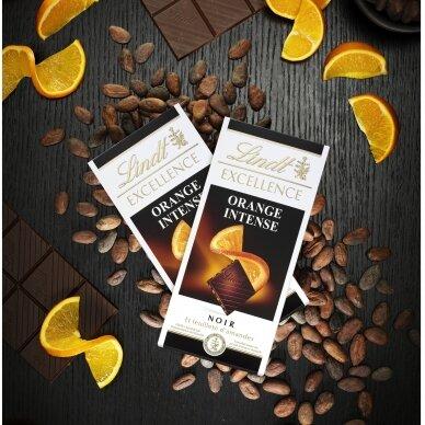 LINDT EXCELLENCE juodasis šokoladas su apelsinais, 100g 2