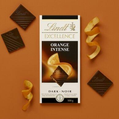 LINDT EXCELLENCE juodasis šokoladas su apelsinais, 100g 5