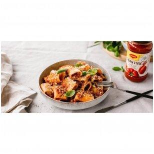 Makaronai su malta mėsa ir pomidorų padažu