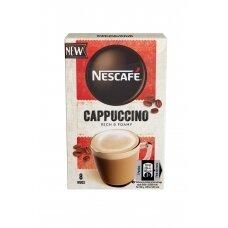 """NESCAFE tirpios kavos gėrimas """"Cappuccino"""", 8x15g"""