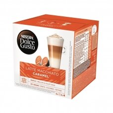 Nescafe kavos kapsulės Dolce Gusto Latte Macchiato Caramel, 16 kapsulių, 145.6g