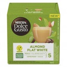 Nescafe kavos kapsulės Dolce Gusto Almond Flat White 12 kapsulių 132g