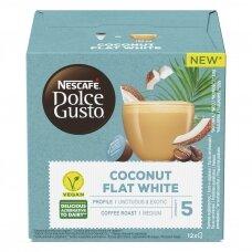 Nescafe kavos kapsulės Dolce Gusto Coconut Flat White, 12 kapsulių, 116.4g