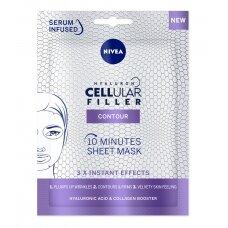 "NIVEA 10 minučių ""Hyaluron Cellul Filler"" lakštinė kaukė"