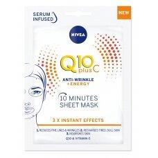 """NIVEA 10 minučių """"Q10+C"""" lakštinė kaukė"""