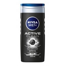 "NIVEA MEN dušo želė vyrams ""Active Clean"", 250ml"