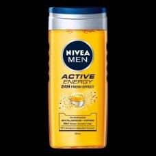 NIVEA MEN ACTIVE ENERGY dušo želė vyr.250ml