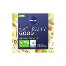 NIVEA NATURALLY GOOD naktinis kremas su organiniu arganų aliejumi, 50 ml