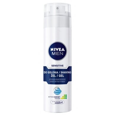 "NIVEA MEN skutimosi želė jautriai odai ""Sensitive"", 200ml"