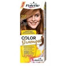 PALETTE CS dažomasis šampūnas 317, Riešutų atspalvio šviesi